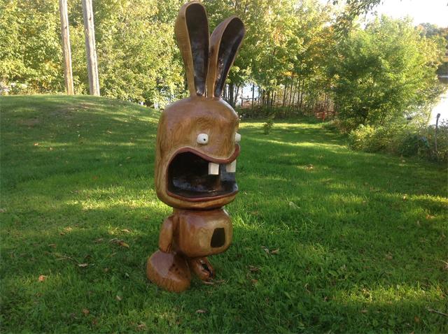 Sculpture tronçonneuse bois technique