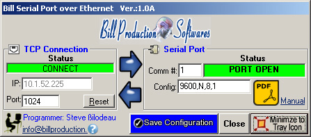 Bill Production keyboard wedge Softwares (RS-232 to keyboard Converter)